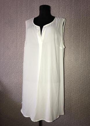 Шифоновая блуза большого размера можно как платье оаерсайз