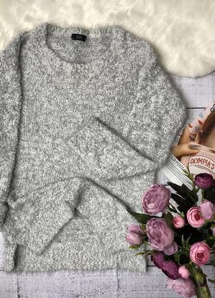 Свитер травка серый/свитер зефирка/f&f/размер s/