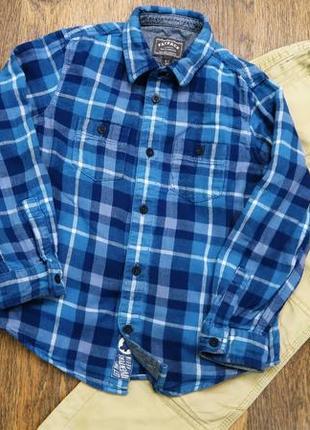 Стильная байковая рубашка в клетку