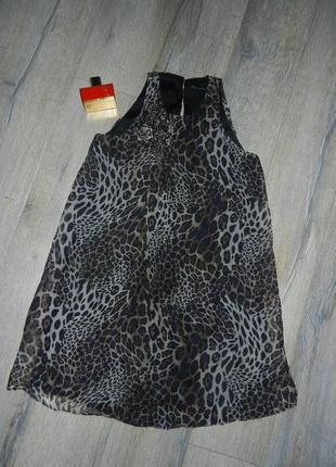S/м*zara*оригинал,леопардовое нарядное платье,натуральный шелк