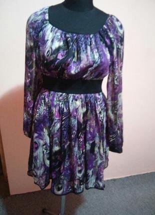 Платье летнее 100% шолк раз.s (8/10)1 фото