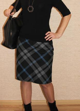 Стильная качественная юбка клетка от бренда lorsay xs-s