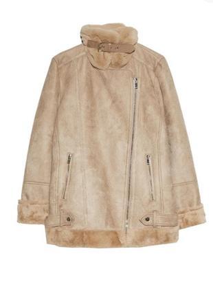 Дубленка косуха /куртка/ байкерская с мехом