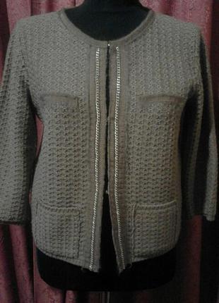 Кофта пиджак отличный бренд шерсть мериноса