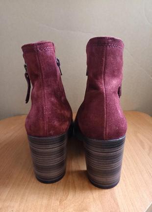 Женские замшевые полусапожки ботинки бренд gabor4