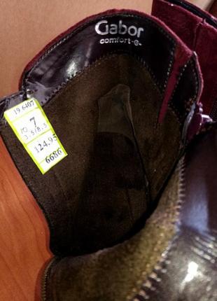 Женские замшевые полусапожки ботинки бренд gabor5