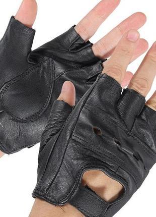 Короткие перчатки митенки для тренировок размер l комбинированный материал