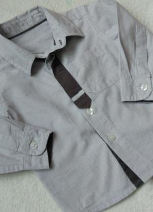Новая стильная рубашка длинный рукав mothercare на 9-12 мес