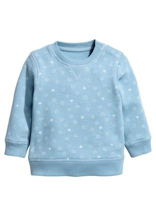 Голубая теплая кофта h&m на малыша, малышку 74 см
