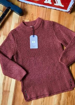 Тёплый свитер zara кирпичного цвета на мальчика 122 см 7 лет