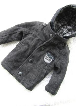 Стильная пальто куртка  с капюшоном matalan