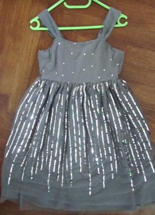 Нарядное платье пайетки