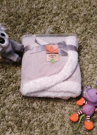 Теплый пледик carter's для малыша.🐨 плюшевый плед в коляску, в кроватку. мягкий плед