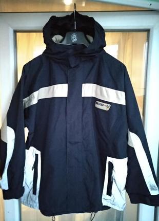 Куртка-ветровка-дождевик тсм р.134-140 мальчику 9-10л, демисезон