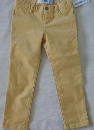 Вельветовые джинсы old navy на 3 - 4 года новые девочке америка