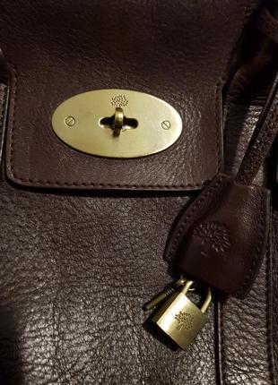 Vip! роскошная кожаная сумка mulberry нат. кожа класса люкс сер.№ англия