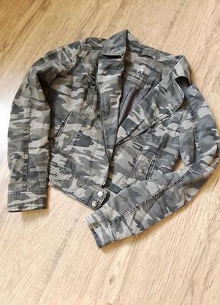 Крутая камуфляжная  котоновая куртка косуха atm ,10