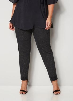 Черные с люрексом брюки чинос