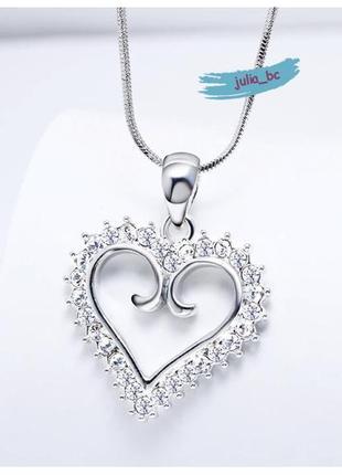 Изящный кулон сердце на цепочке, смотрите больше бижутерии в моих объявлениях