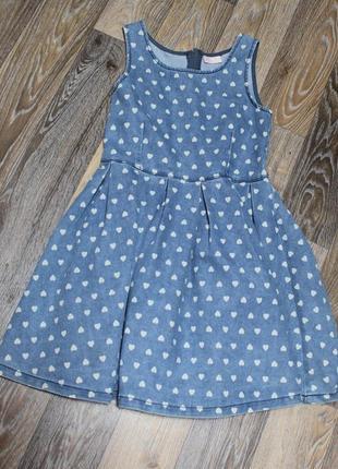Джинсовое платье next на девочку 11 лет в идеальном состоянии