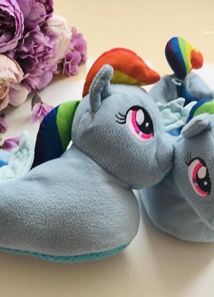 Домашние тапочки my little ponies пони поняшки радуга стелька 20-21