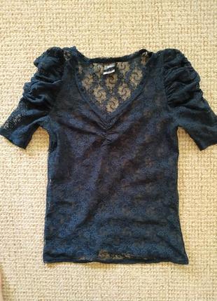Кружевна блуза zara