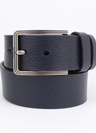 Кожаный ремень под джинсы maybik 15010 синий 40 мм с коробочкой