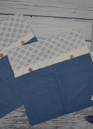 Шикарная наволочка для декоративных подушек в ваш дизайн с кружевом скандинавский стиль