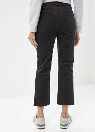 Новые вельветовые укороченные штаны, высокая посадка 38 р3 фото
