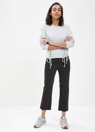 Новые вельветовые укороченные штаны, высокая посадка 38 р2 фото