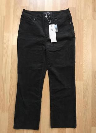 Новые вельветовые укороченные штаны, высокая посадка 38 р4 фото