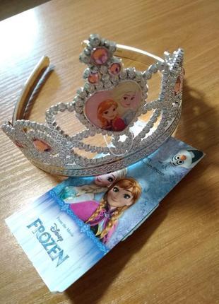 Коронка для девочки с героями мультфильма анна и эльза фрозен