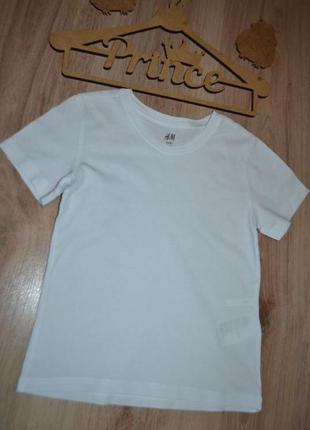 Белоснежная футболка мальчику сост идеал h&m 2-4г