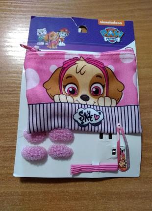 Набор кошелек, резинки и заколки для девочки щенячий патруль, новый