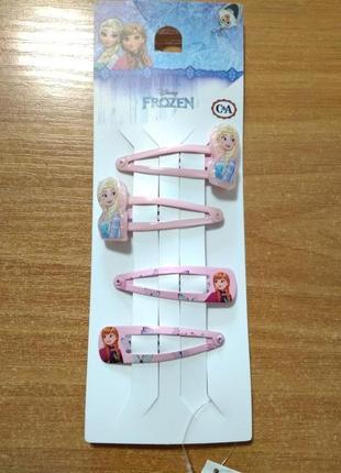 Заколки для девочки принцесса анна и эльза фрозен, 4 штуки в наборе