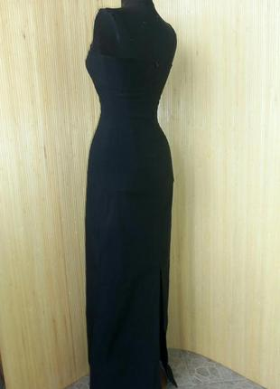 Чёрное длинное вечернее платье pimkie  xs/s4
