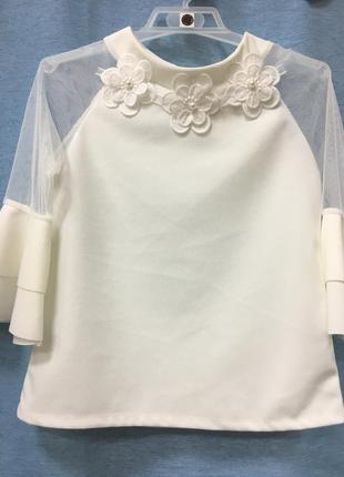 Нарядная блуза италия для девочки.