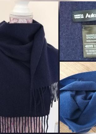 Фирменный качественный натуральный кашемировый тёплый шарф