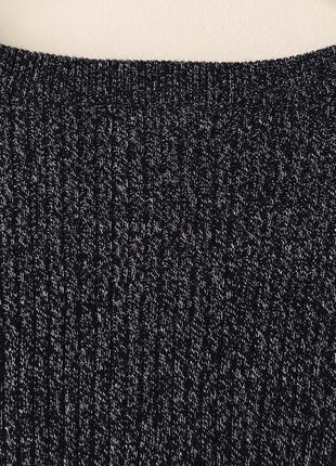 Хлопковый свитер в рубчик темно-серого цвета меланж h&m черный джемпер с разрезами10 фото