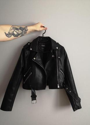 Куртка (косуха) pull&bear из искусственной кожи