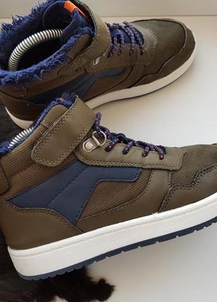 Высокие кеды 33р.,кроссовки,хайтопы,ботинки на меху h&m 21,5 см.2