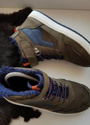 Высокие кеды 33р.,кроссовки,хайтопы,ботинки на меху h&m 21,5 см.