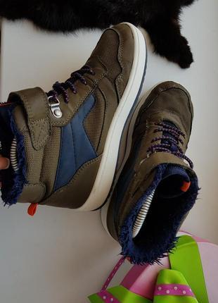 Высокие кеды 33р.,кроссовки,хайтопы,ботинки на меху h&m 21,5 см.3