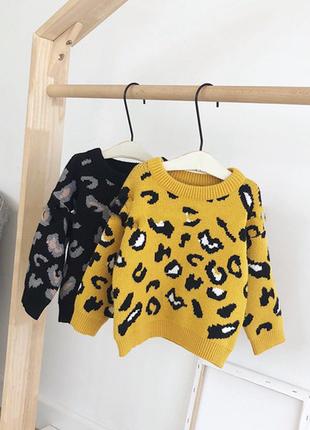 Новый детский свитер трендовый анималистический принт2