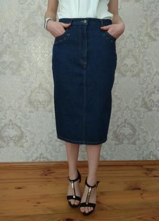 Джинсовая юбка миди 💙