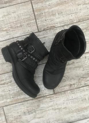 Распродажа#чёрный кожаные ботинки spm
