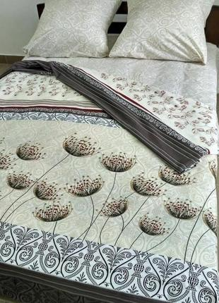 Красивый постельный набор 2- спалка и евро в наличии, очень милый
