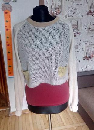 Модный укороченый свитер кофта.fun kidd.