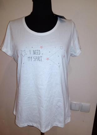 Ночная хлопковая футболка м/л 40/42 esmara.