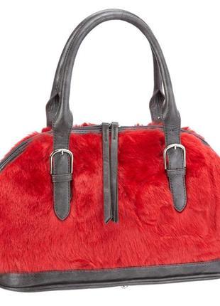 Трендова сумка с вставками меха betty barclay